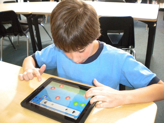 Child Learning on an iPad