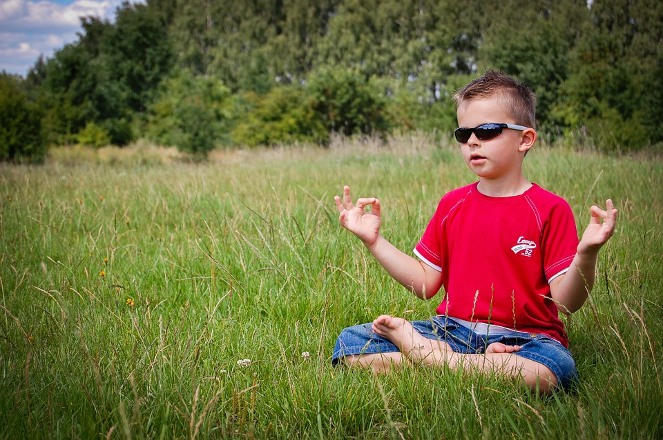 Cool Kid Meditating