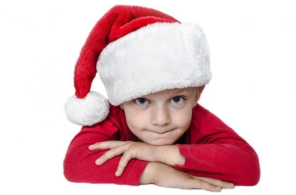 Kid Dressed as Santa